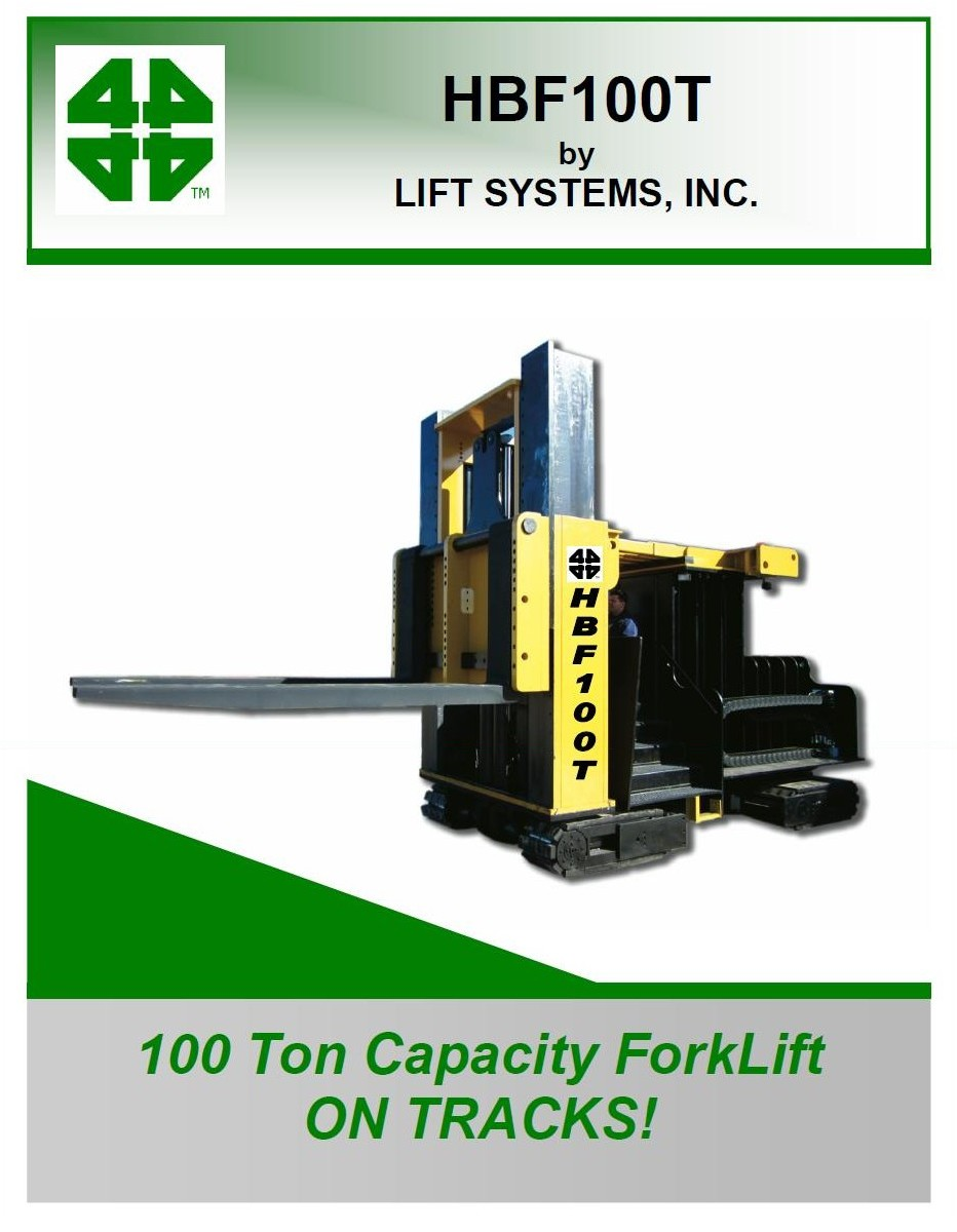 HBF100T - 100 Ton Forktruck on tracks - PG1